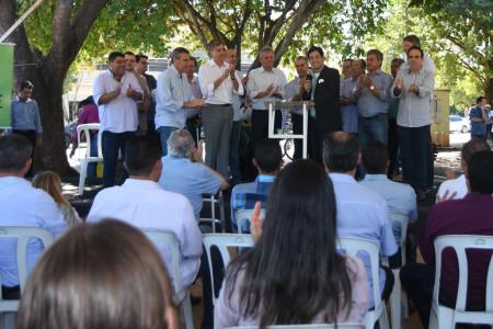Solenidade de inauguração do serviço de dados e voz 3G reuniu diversas autoridades em Bonito - Foto/Governo do Estado