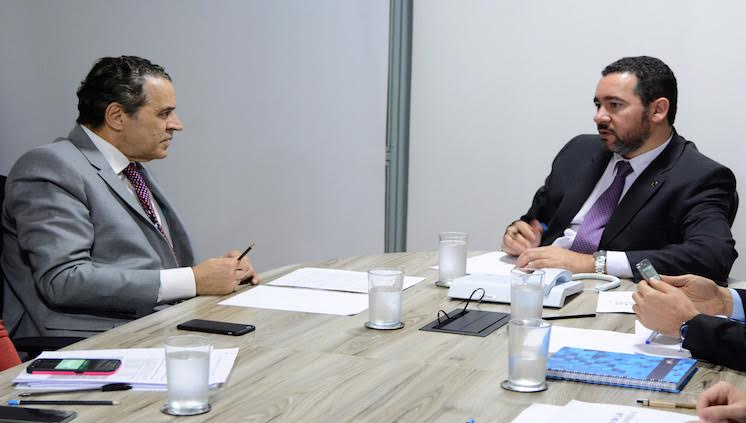 ministros Dyogo Oliveira e Henrique Eduardo Alves