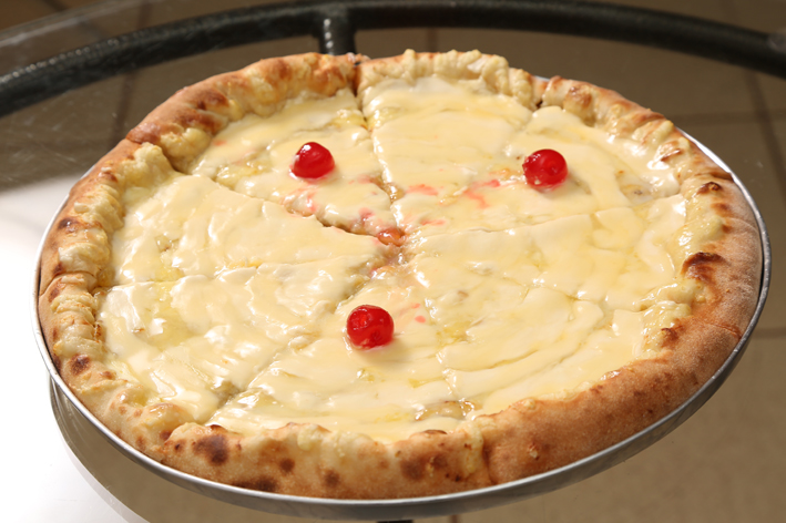 pizza banana com chocolate branco-universidade da pizza-reduzida