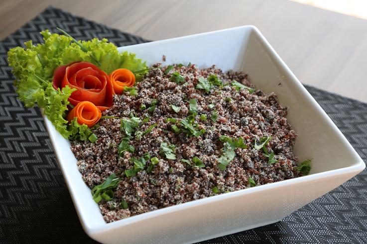 farofa especial de proteina de soja -restaurante brasileiro-reduzida