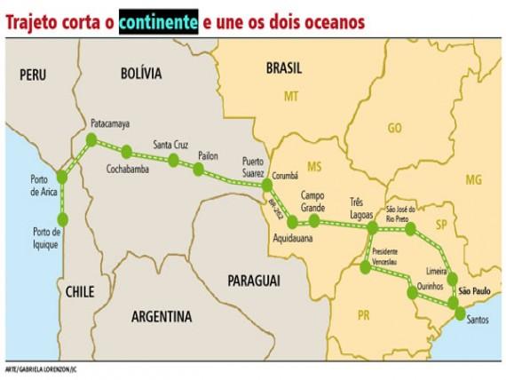 Efetivação do Corredor Bioceânico criará uma rota terrestre aos portos do Chile, partindo de Porto Murtinho
