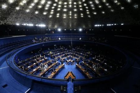 Vista geral do Senado brasileiro durante sessão de votação da PEC 55 em Brasília, Brasil 13/12/2016 REUTERS/Adriano Machado