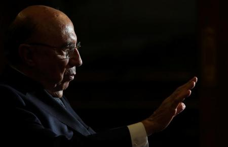 Brazil's Finance Minister Henrique Meirelles attends an interview with Reuters in Brasilia, Brazil, February 21, 2017. REUTERS/Adriano Machado - RTSZPTW