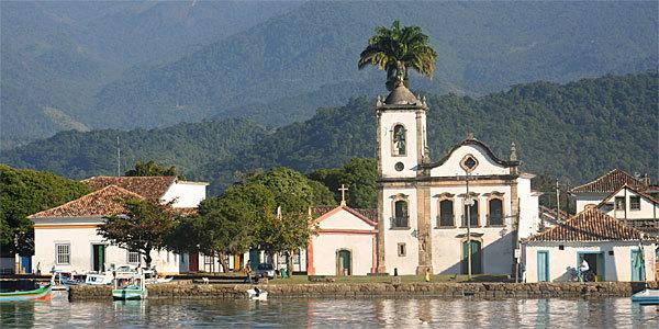 Paraty, no litoral sul do Rio de Janeiro. no quesito hospitalidade recebeu nota máxima de 100% dos turistas estrangeiros. (Foto: Divulgação).