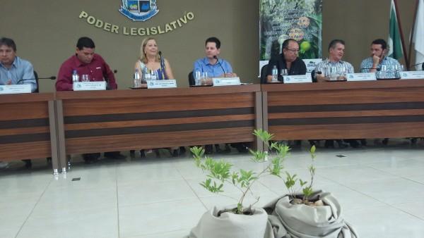 Audiência pública para discutir preservação e produção da guavira lotou o plenário da Câmara Municipal de Bonito. (Foto: Divulgação).