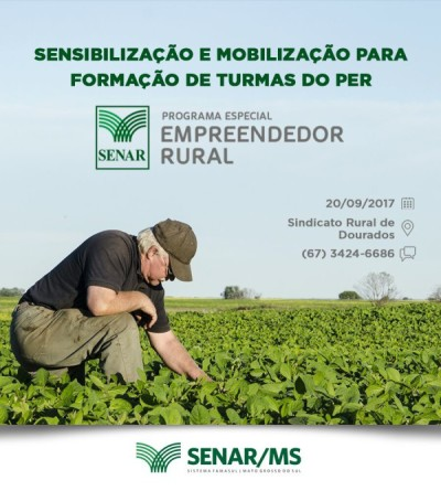 A palestra de divulgação acontece quarta-feira às 18h30, no auditório do Sindicato Rural de Dourados. (Divulgação).