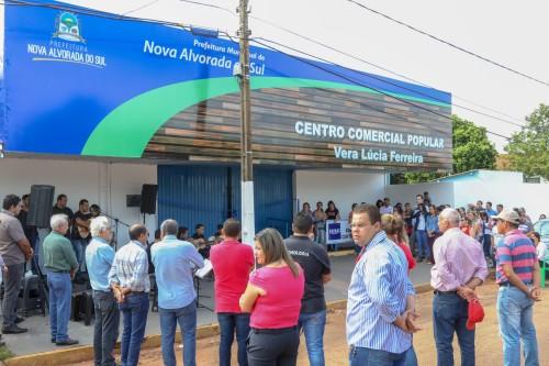 Inauguração do Centro Comercial Nova Alvorada. (Foto rachid Waqued).