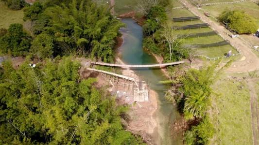 Nova ponte fortalece o turismo e beneficia escoamento dos assentamentos e grandes fazendas